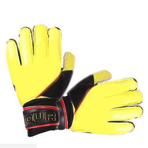 Latex Goalkeeper Gloves Roll Finger - S