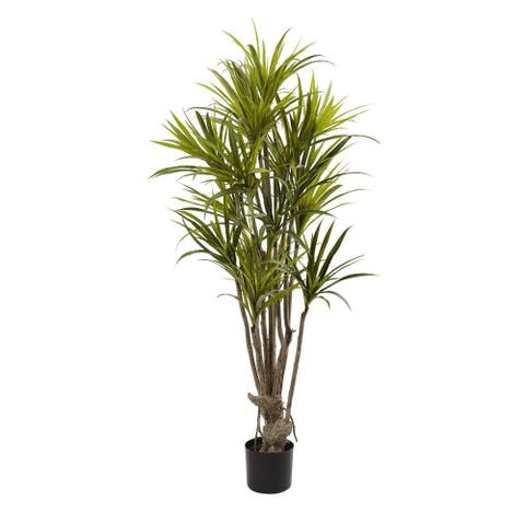 Nearly Natural Decorative 5' Dracaena Silk Artificial Faux Tree - Not Available