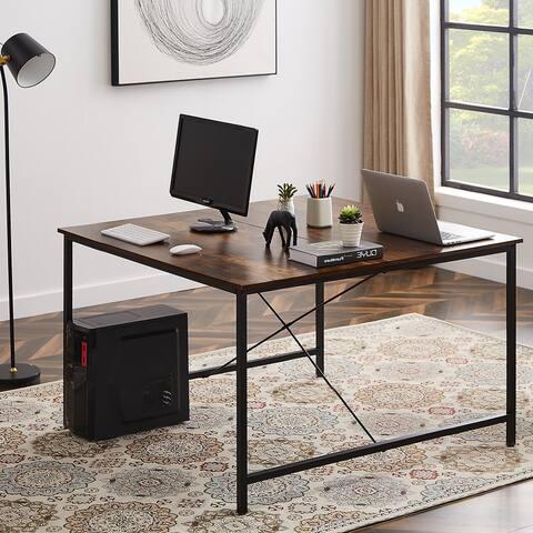 TiramisuBest Two Person Desk Double Workstation Computer Desk