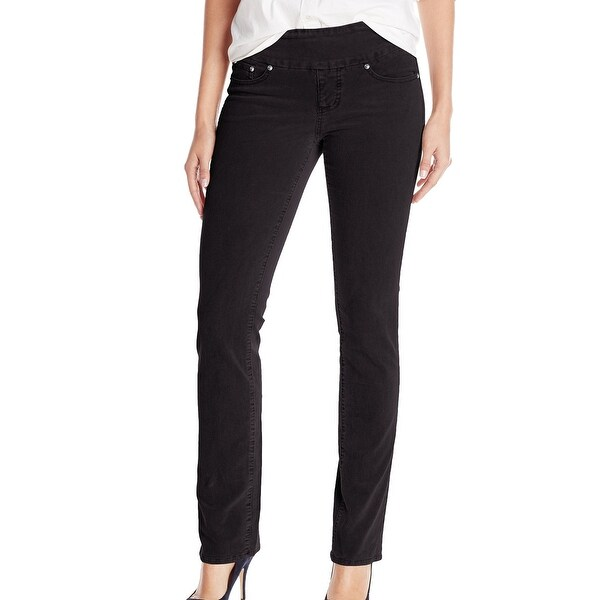 f61da8947c290 Jag Jeans NEW Black Women Size 4 High Rise Straight Leg Corduroys Pants