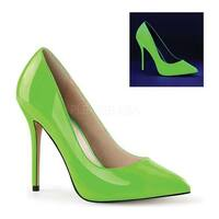 Pleaser Women's Amuse 20 Neon Green Patent