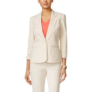 Nine West Womens Suit Jacket 1 Button Ruched