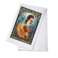 Holden Beach, NC - Mermaid - LP Artwork (100% Cotton Towel Absorbent)