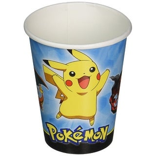 Pokemon Pikachu and Friends 9oz Paper Cups, 8 Count - Multi