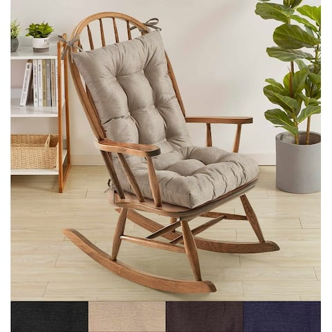 Sweet Home Collection Rocking Chair Cushion Set