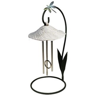 Bella Blossom Solar Powered Indoor Chime - Stone