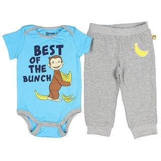 Curious George Baby Boys' Best Of The Bunch Romper And Pants Pajama Set