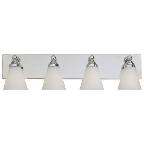 Designers Fountain 6494 Contemporary Four Light 400W Bathroom Wall Fixture from the Hudson Collection