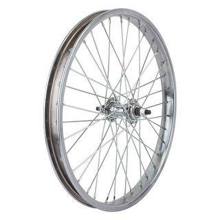 Wheel Master Front Bicycle Wheel, 20 x 2.125, 36H, Steel, Bolt On, Silver
