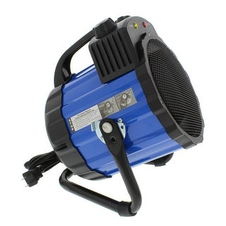Comfort Zone CZ285 Ceramic Electric Barrel Fan-Forced Utility Heater, Blue