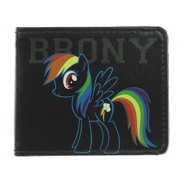 Brony Rainbow Dash Outline + Cutie Mark Bi Fold Wallet - One Size Fits most