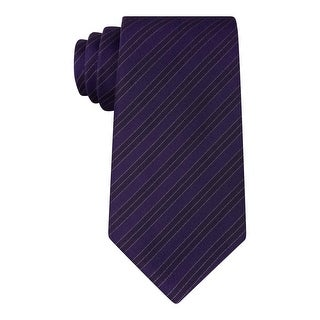 Kenneth Cole Reaction Mens Double Veloutine Neck Tie Pinstripe Slim - o/s