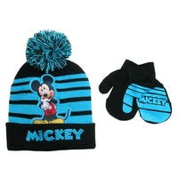 Disney Infant / Toddler's Mickey Mouse Hat and Mitten Winter Set