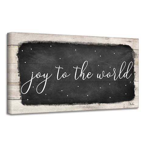 Ready2HangArt 'Joy to the World' Holiday Canvas Wall Art by Olivia Rose