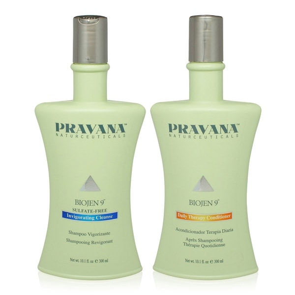 PRAVANA Biojen 9 Invigorating Cleanse and Daily Therapy Conditioner 10 Oz Combo Pack