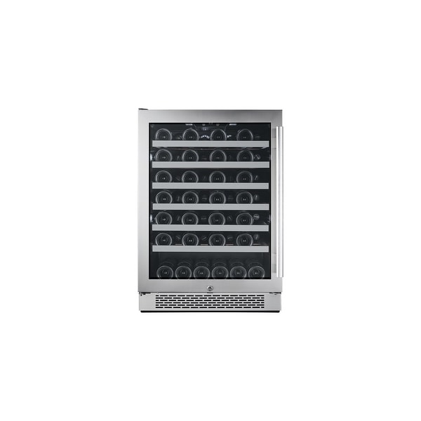 """Avallon AWC241SZLH 24"""" Wide 54 Bottle Capacity Single Zone Wine Cooler with Left Swing Door - STAINLESS STEEL - N/A"""