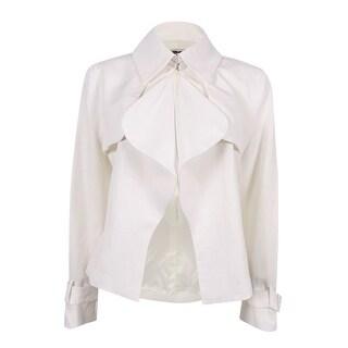 Anne Klein Women's Draped Front Blazer (10, White) - White - 10