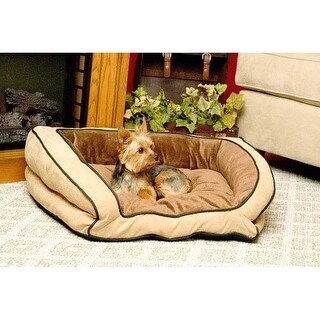 "K&H Pet Products Bolster Couch Pet Bed Small Mocha / Tan 21"" x 30"" x 7"""