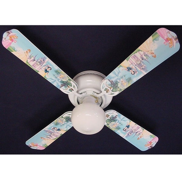 Disney's Princess Castle Print Blades 42in Ceiling Fan Light Kit - Multi