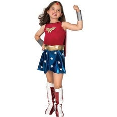 Deluxe Wonder Woman Kids Halloween Costume (2 options available)