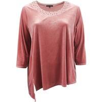 Women Plus Size Asymmetrical Velvet Sweater Winter Fall Tee Knit Top Rust