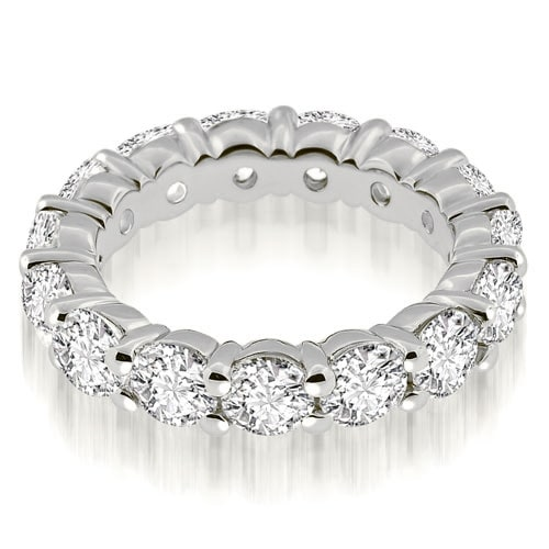 3.00 cttw. 14K White Gold Classic Round Cut Diamond Eternity Band Ring