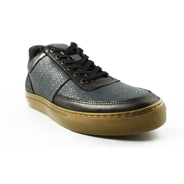Shop Steve Madden Mens Metel Black Gold Fashion Shoes Size 9.5 ... b0d7346e1d31