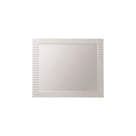 """Savona 36"""" Bathroom/Vanity Wave framed Wall Mirror in White - 36 inches"""