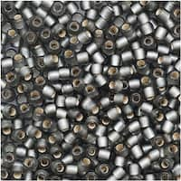 Toho Round Seed Beads 11/0 29BF 'Silver Lined Frosted Gray' 8 Gram Tube