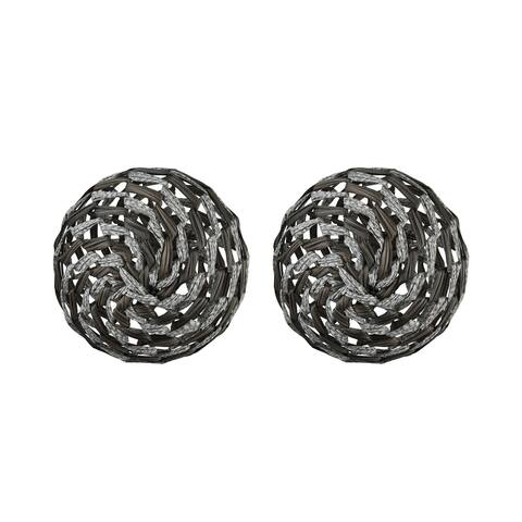 Dimond Home 351-10583/S2 Whoave Two Set Fabric and Metal Decorative - Gray