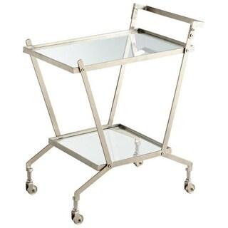 Cyan Design Carrello Bar Cart Carrello 32.25 Inch Tall Iron and Glass Bar Cart Made in India