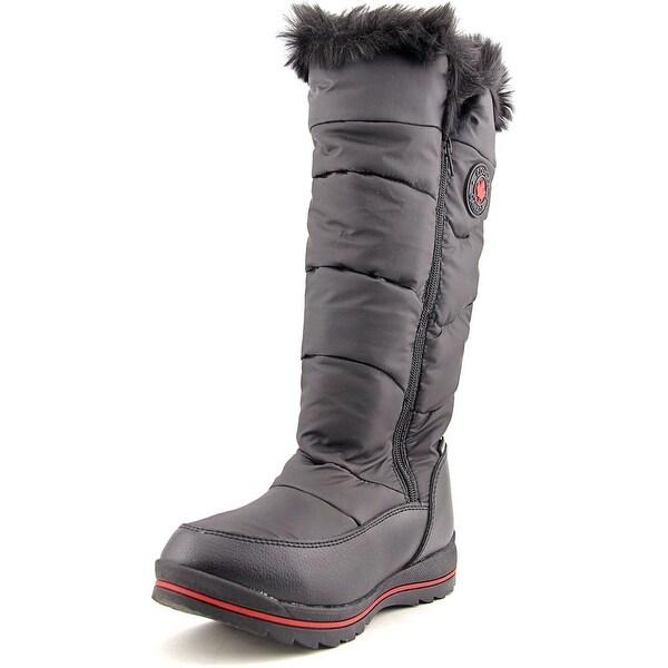 Shop Cougar Bistro Women Round Toe Canvas Black Snow Boot
