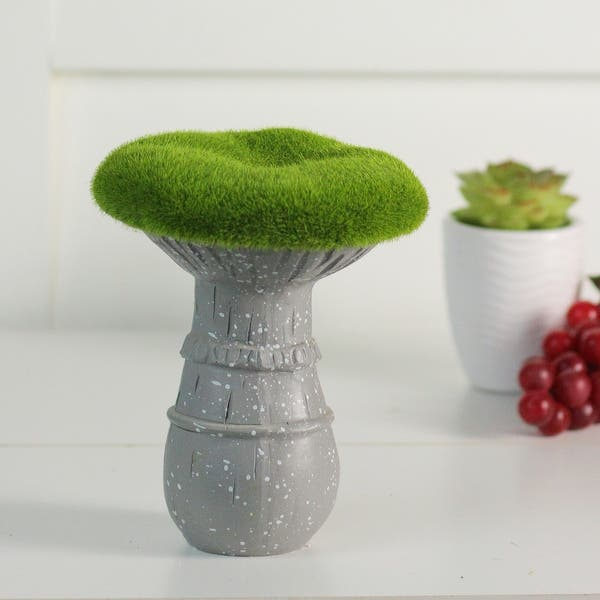 Shop 6 5 Artificial Moss Covered Mushroom Outdoor Garden Statue