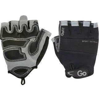 GoFit ProTrainer Sport-Tac Grip Weight Lifting Gloves - Black/Gray