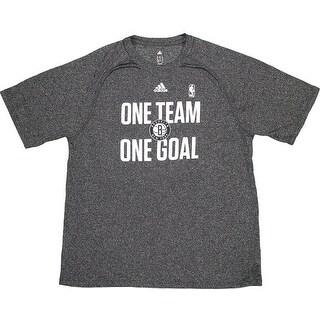 Jerome Jordan 20142015 Brooklyn Nets One Team One Goal Charcoal Gray WarmUp Short Sleeve Shirt