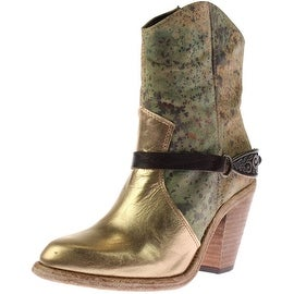 Australia Luxe Womens Leather Camouflage Cowboy, Western Boots - 6 medium (b,m)