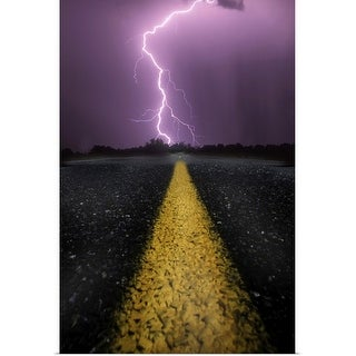 """When lightning strikes ahead"" Poster Print"