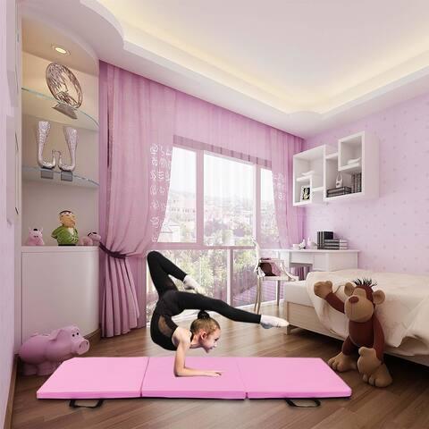 Gym Household Tri-fold Gymnastics Yoga Mat with Hand Buckle