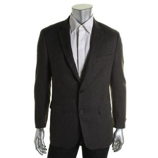 Greg Norman Mens Tweed Elbow Patches Two-Button Blazer - 44L