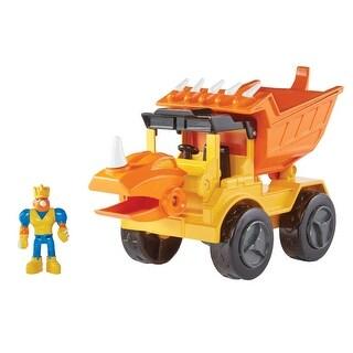 Educational Insights Dino Construction Rocko The Styracousaurus Dump Truck