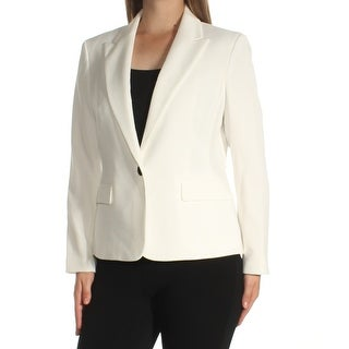 Womens White Wear To Work Blazer Jacket Size 10
