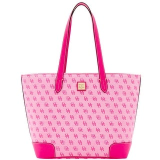 Dooney & Bourke Madison Signature Large Zip Shopper (Introduced by Dooney & Bourke at $248 in Jun 2016) - Fuchsia