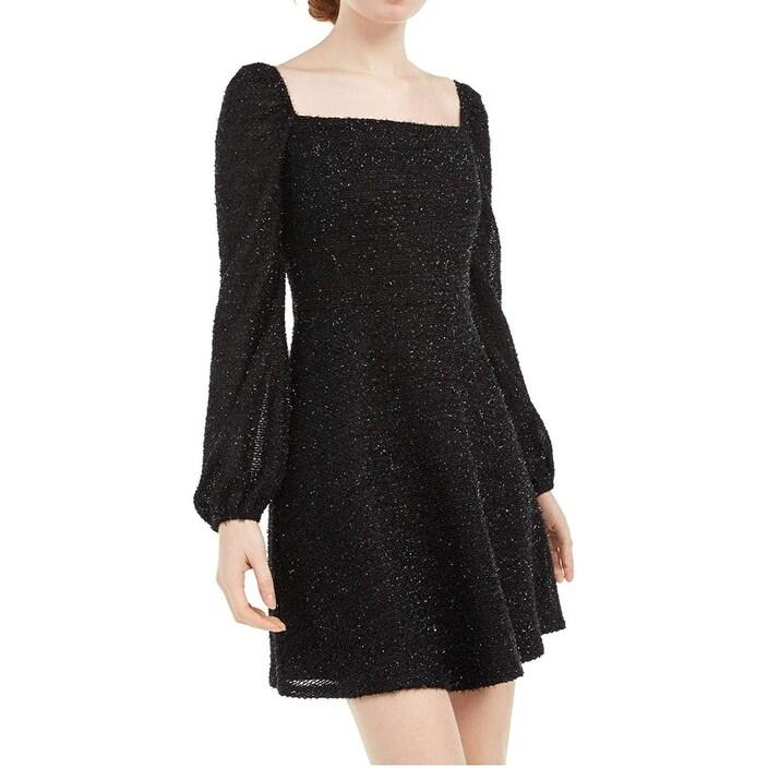 City Studio Womens Black Keyhole Neck Mini Cocktail Party Dress 5 BHFO 3480