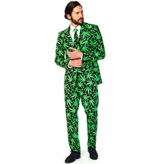 Oppo Suits Cannaboss Suit Adult Costume - Green/Black