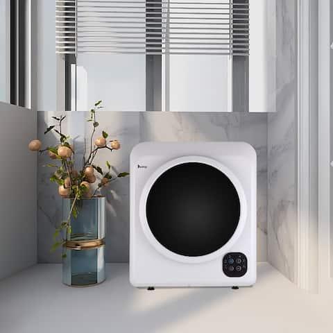 Home Button Dryer 6kg Drum Dryer 2 Pieces of Filter Cotton-White