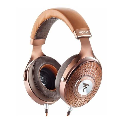 Focal Stellia Closed-Back Circum-Aural Headphones (Cognac and Mocha)