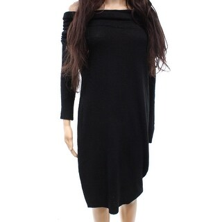 Solutions Women's Small Draped Cowl neck Sweater Dress