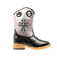 Blazin Roxx Boots Girls Sonora Kids Cross Black Purple