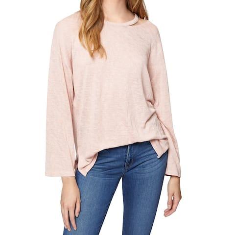 Sanctuary Pink Women's Size Large L Cut-Out Pullover Knit Top