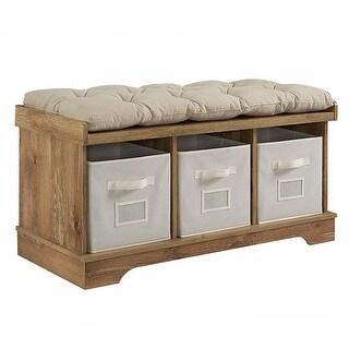 """Delacora WE-BD42STC  Carolina 42"""" Wide Wood Framed Cotton Bench"""